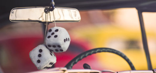 Fuzzy Dice Rearview car mirror