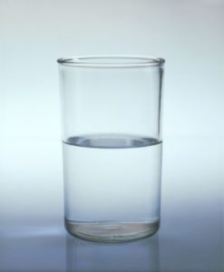 glass half full being optimistic