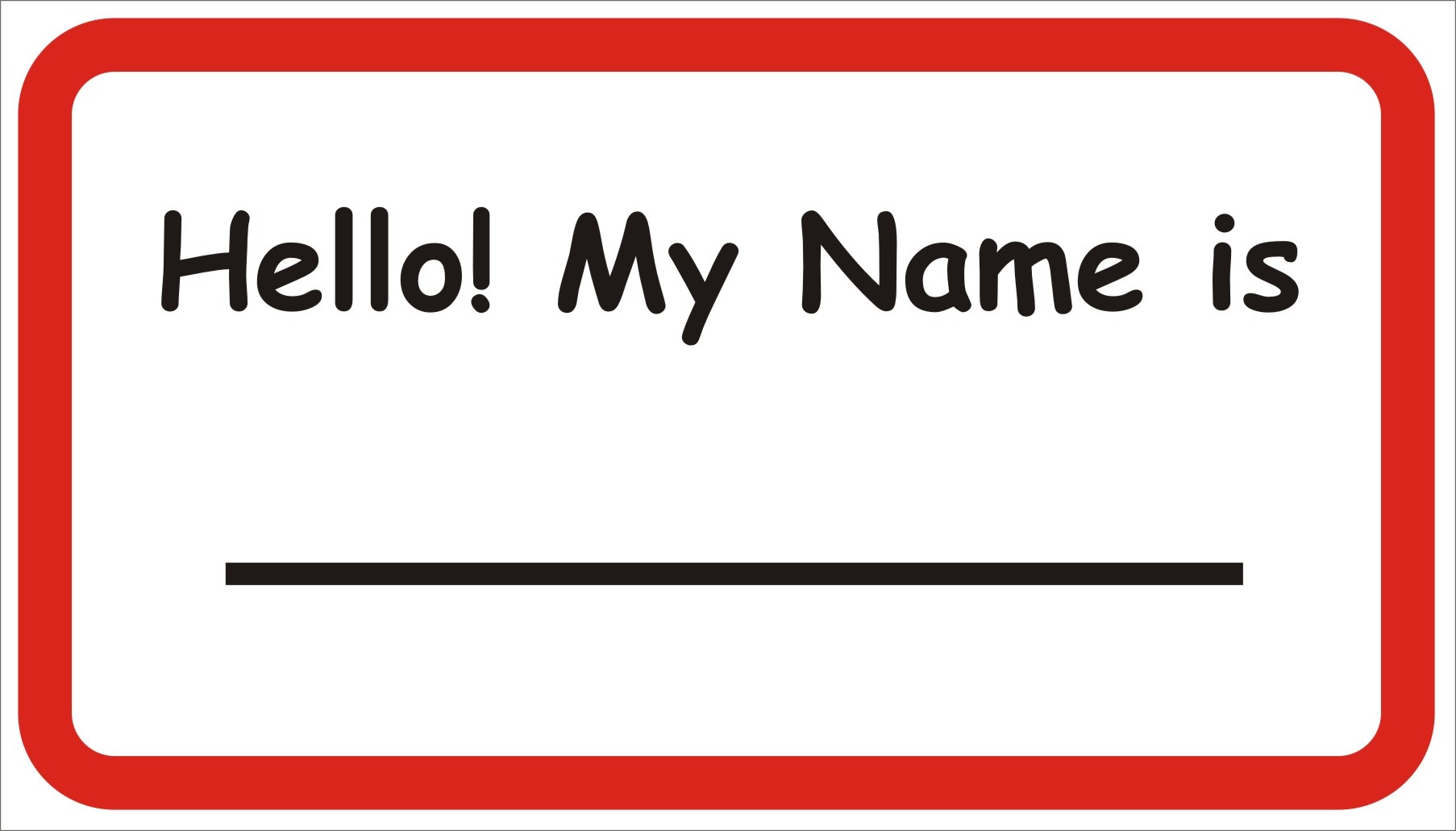 What 39 s the etiquette for name tags for Name badge label template
