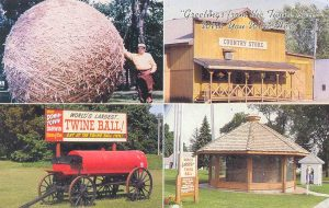 Biggest Ball of Twine postcard