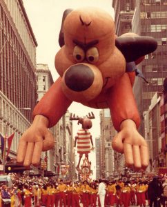 Underdog balloon Macys Thanksgiving Parade