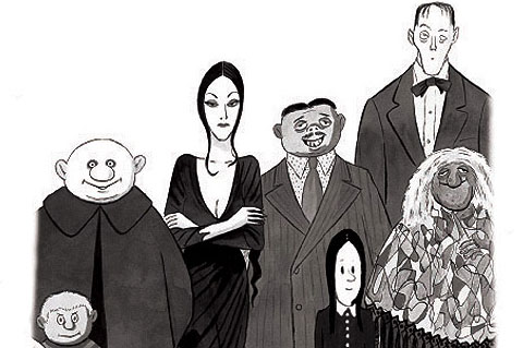 Addams Family characters comic strip