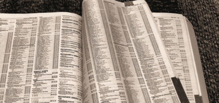 Phone Book pages