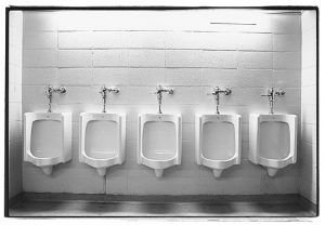 Public bathroom urinals