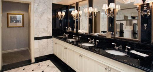 fancy public bathroom