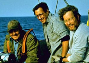 Jaws 1975 Robert Shaw Roy Scheider Richard Dreyfuss Cast