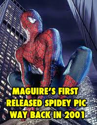 Tobey Maguire first picture as SpiderMan