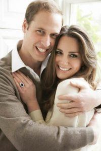 Prince William and fiance Kate Middleton.