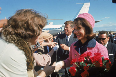 Jackie Kennedy pink dress Dallas Texas assassination