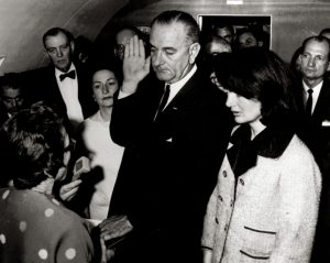 Lyndon Johnson Jackie Kennedy oath of office