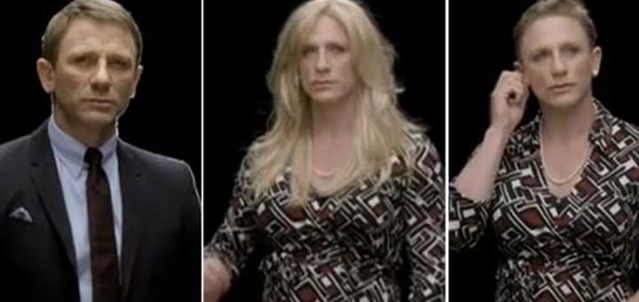Daniel Craig James Bond dress drag