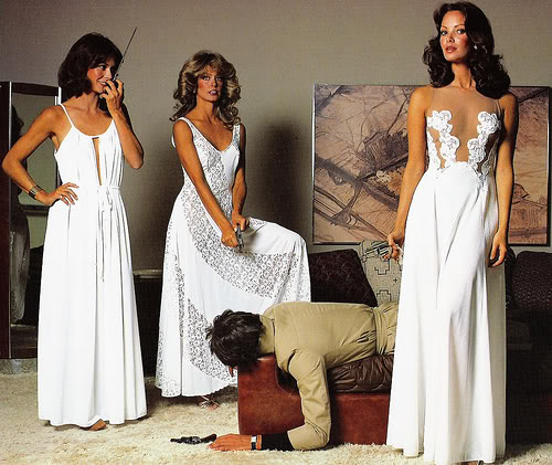 Charlies Angels cast Kate Jackson Farrah Fawcett Jaclyn Smith1976