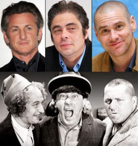 Three Stooges Cast Sean Penn Benecio Del Toro Jim Carrey