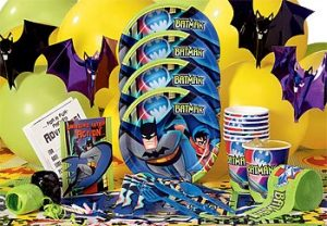 batman party pack decorations