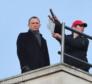 Skyfall set filming Daniel Craig James Bond movie