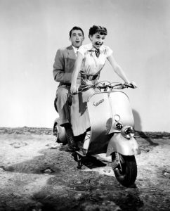 Roman Holiday 1953 Audrey Hepburn Gregory Peck Vespa