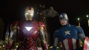 Avengers Robert Downey Jr Iron Man Chris Evans Captain America