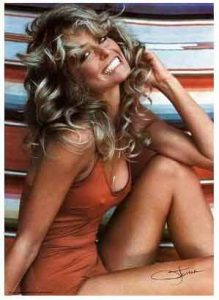 Farrah-Fawcett-pinup-poster-famous