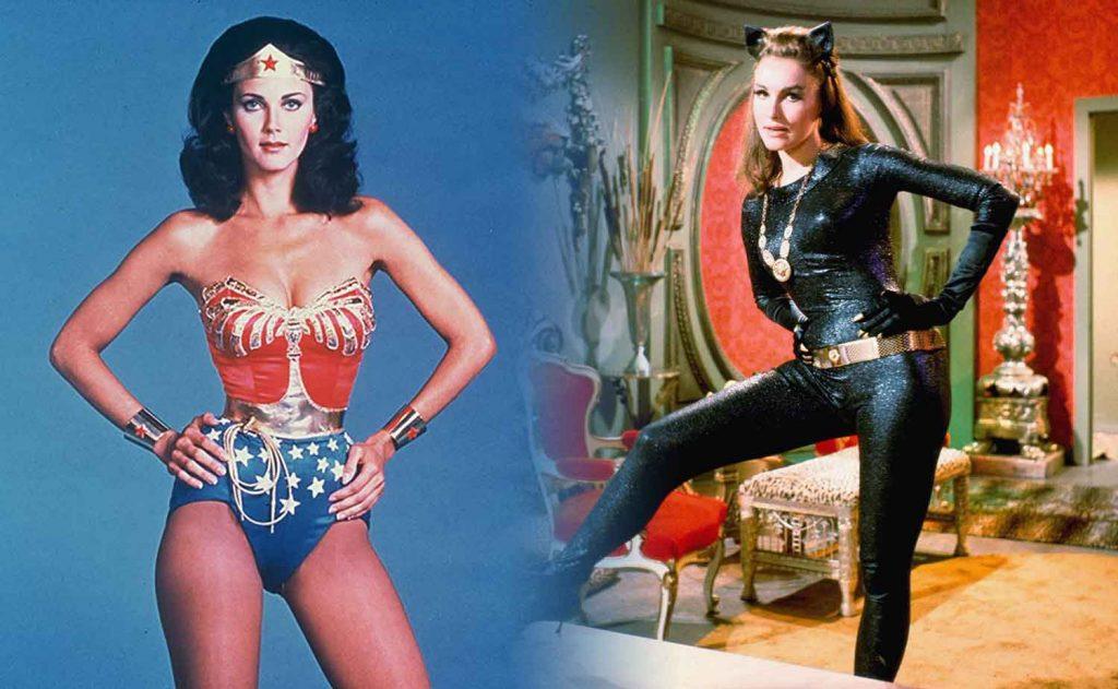 Lynda-Carter-Wonder-Woman-Julie-Newmar-Catwoman-sexy-hot-superheroes