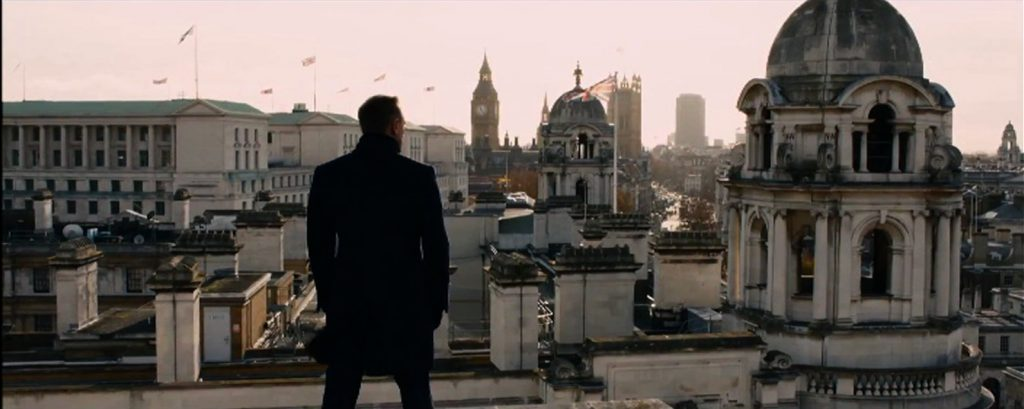 Skyfall 2012 James Bond Daniel Craig 007 London Skyline