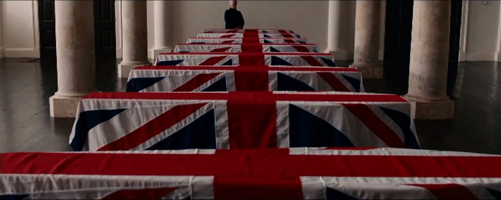 Skyfall 2012 James Bond Judy Dench Coffins