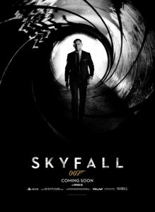 Skyfall 2012 James Bond movie poster