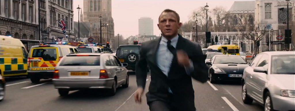 Skyfall James Bond Daniel Craig Running