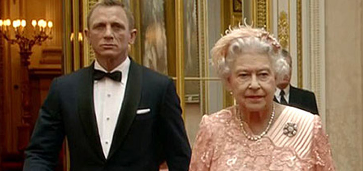 Image result for daniel craig and queen elizabeth 2
