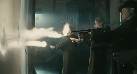 Gangster Squad movie shooting scene