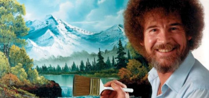 Bob Ross painting music video