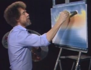 Bob Ross painting artist PBS Remix