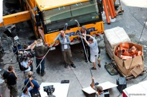 A Good Day To Die Hard Bruce Willis Filming