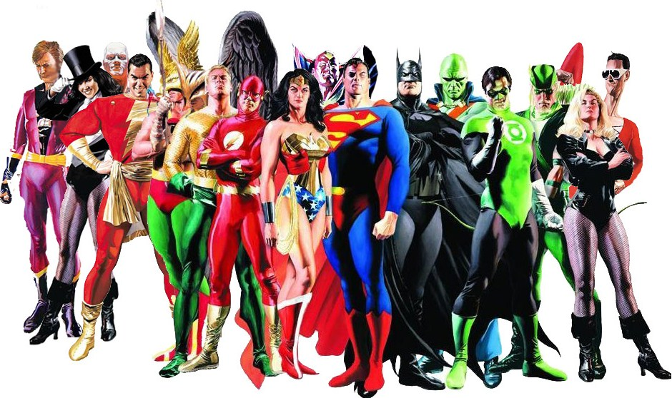 DC Justice League superhero team characters