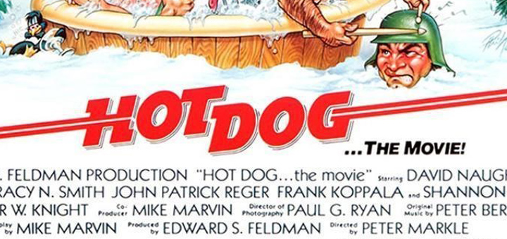 Hot Dog 1984 movie poster logo