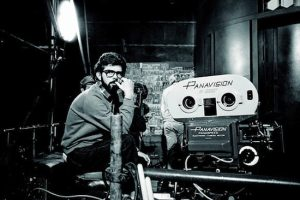 George Lucas on set filming 1977 Star Wars