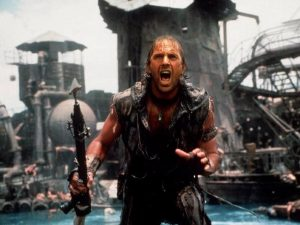 Waterworld 1995 Kevin Costner atoll set big budget