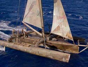 Waterworld 1995 movie boat trimaran