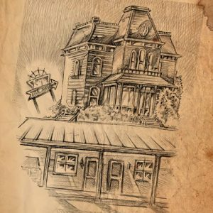 Bates Motel House Drawing