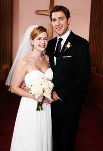 The Office Jim Pam wedding Jenna Fischer John Krasinski