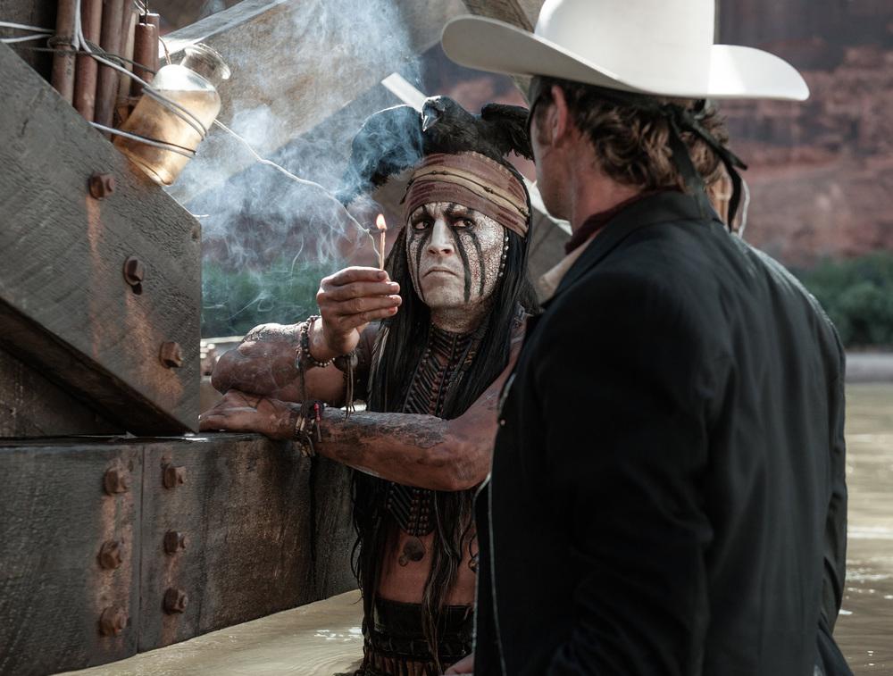 Johnny Depp Tonto Armie Hammer Lone Ranger