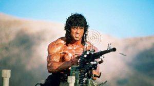 Rambo 3 Sylvester Stallone machine gun