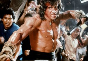 Rambo III Sylvester Stallone fighting pumped