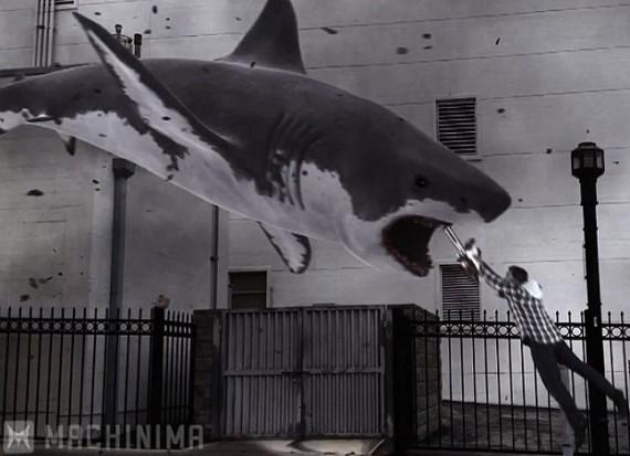 Sharknado shark finale Ian Ziering
