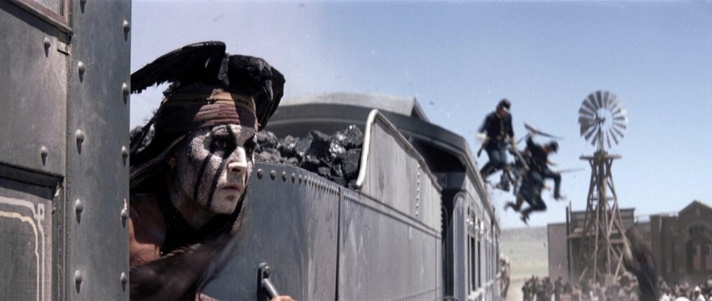 The Lone Ranger Tonto Train stunt
