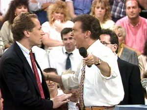 Morton Downey Jr. Show yelling fighting