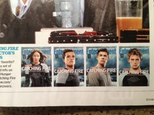 Entertainment Weekly Catching Fire covers