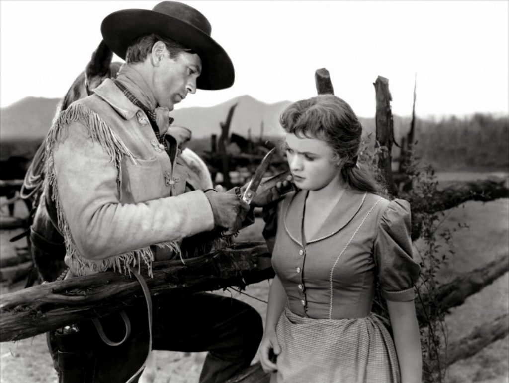 The Westerner 1940 Gary Cooper Doris Davenport lock of hair