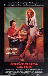 Theyre Playing With Fire 1984 movie Poster Sybil Danning