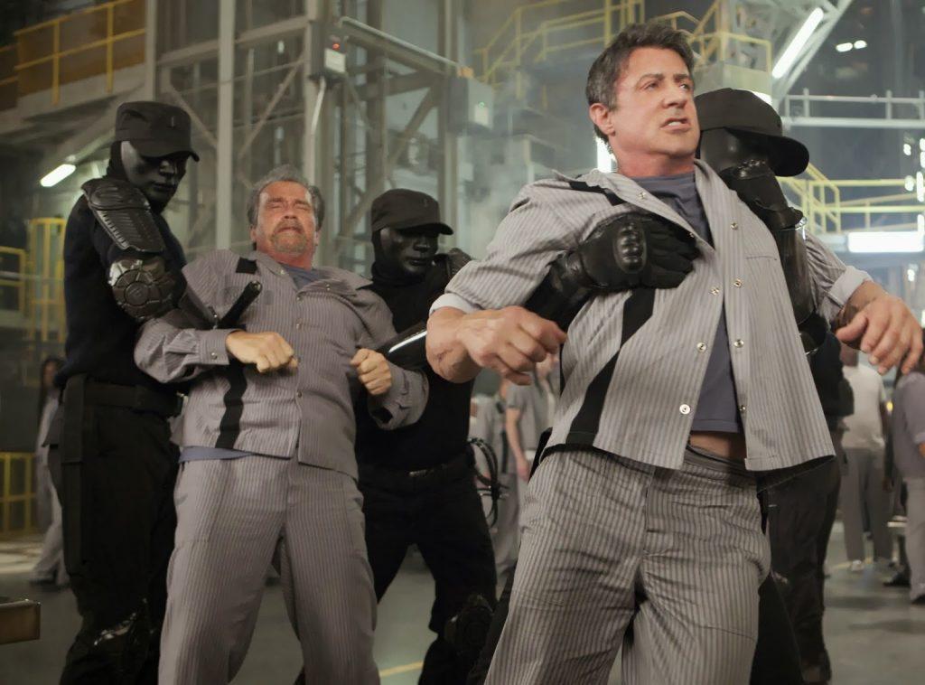 Arnold Schwarzenegger Sylvester Stallone Escape Plan 2013