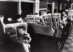 President Kennedy assassination newspaper headlines